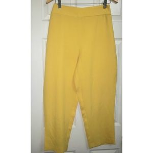 Zara Yellow Capris Pants